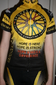 Women's Yellow Short Sleeved Cycling Jersey
