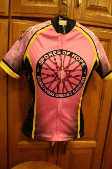Women's Pink Short Sleeved Cycling Jersey
